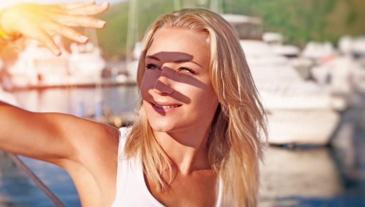 Ook zichtbaar en infrarood licht bruinen de huid